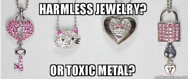 Toxic chemicals in kids' jewelery