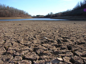 California Drought - Dry Riverbed