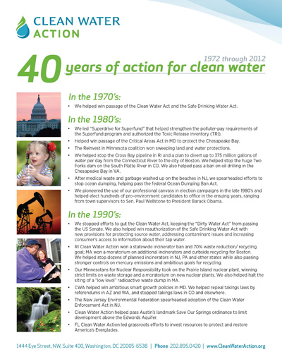 40 Years of Action for Clean Water!