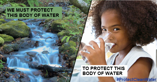 protect clean water girl glass