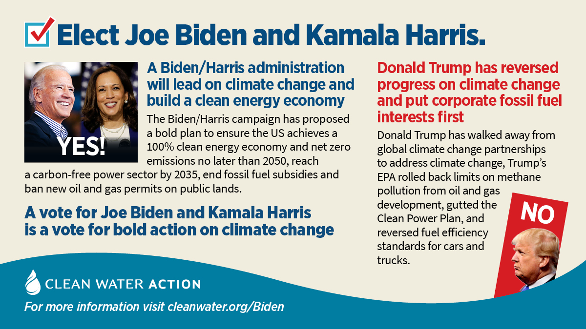 A vote for Biden/Harris is a vote for bold action to address climate change