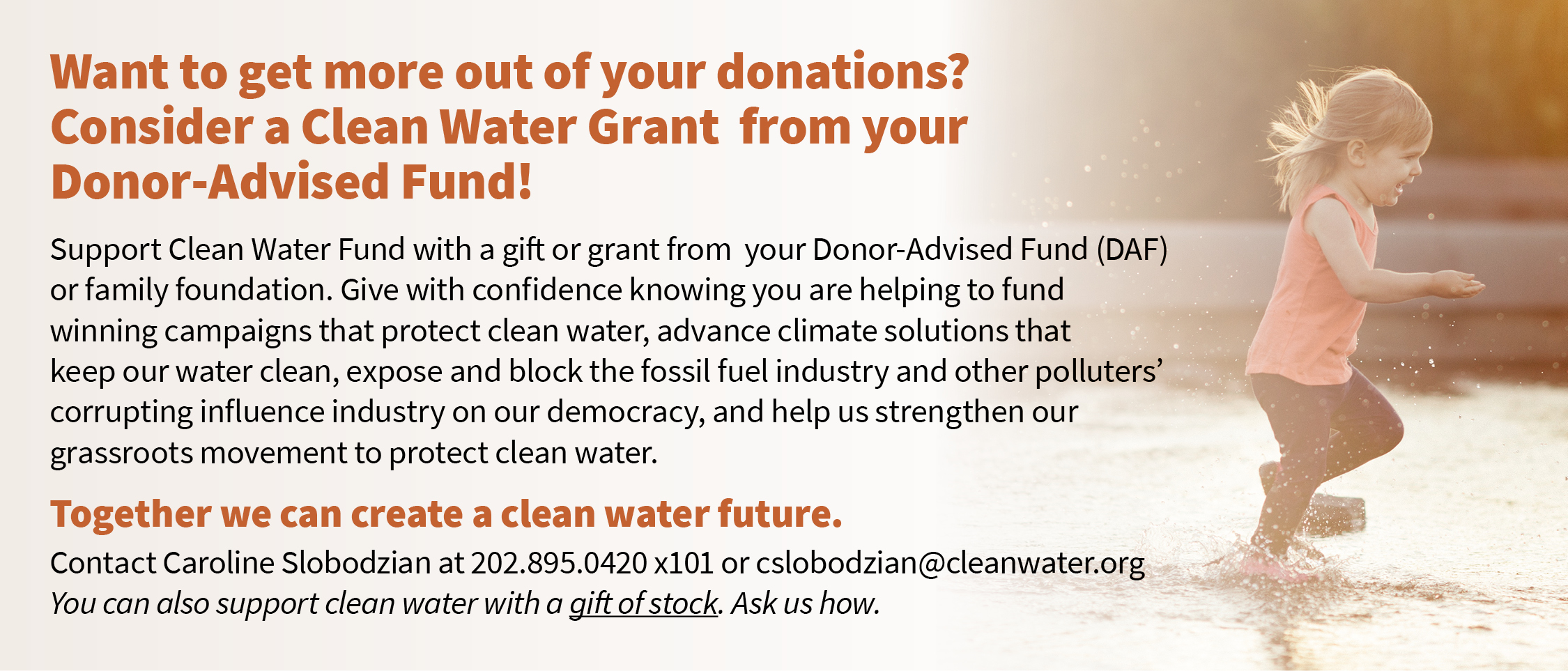 Consider a donation from your Donor-Advised Fund