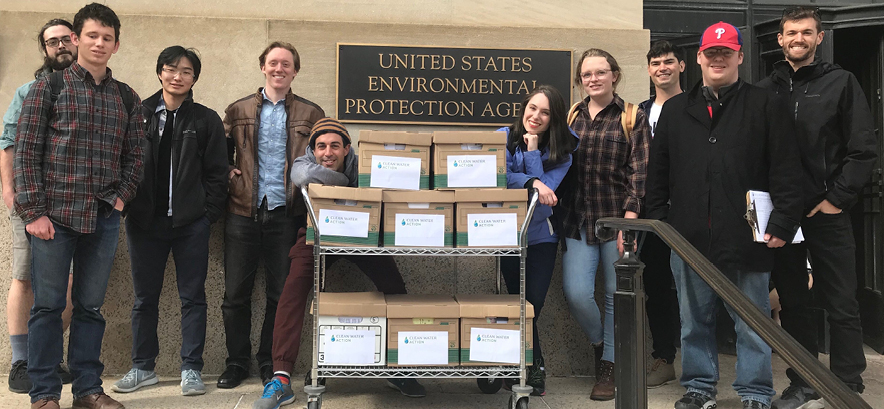 Delivering 72,000+ comments opposed to the Dirty Water Rule to EPA