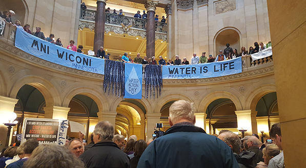 Minnesota capitol rotunda on Water Action Day
