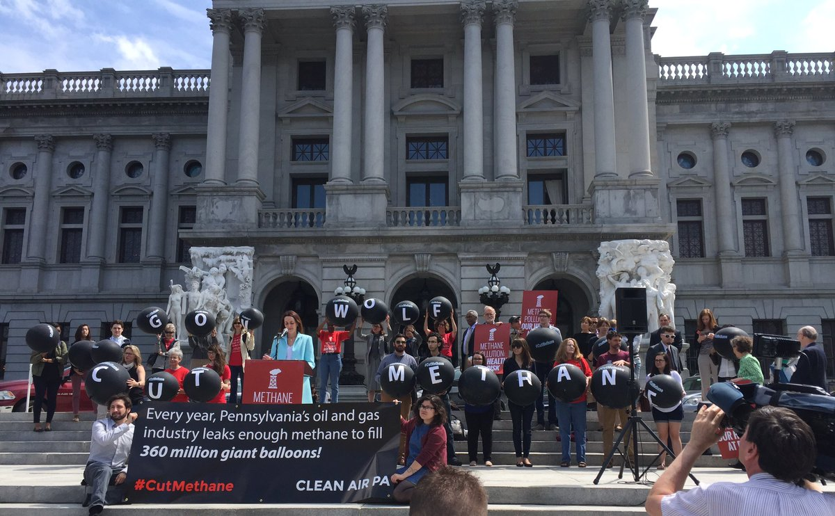 Clean Water Action, along with allies, rallied and lobbied in Harrisburg for strong health and climate protections on methane emissions.