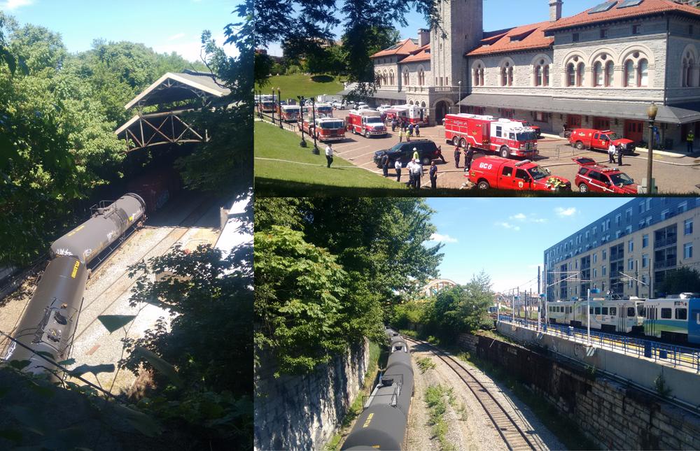 Images of the June Train Derailment in Baltimore. Credit - Jennifer Kunze / Clean Water Action