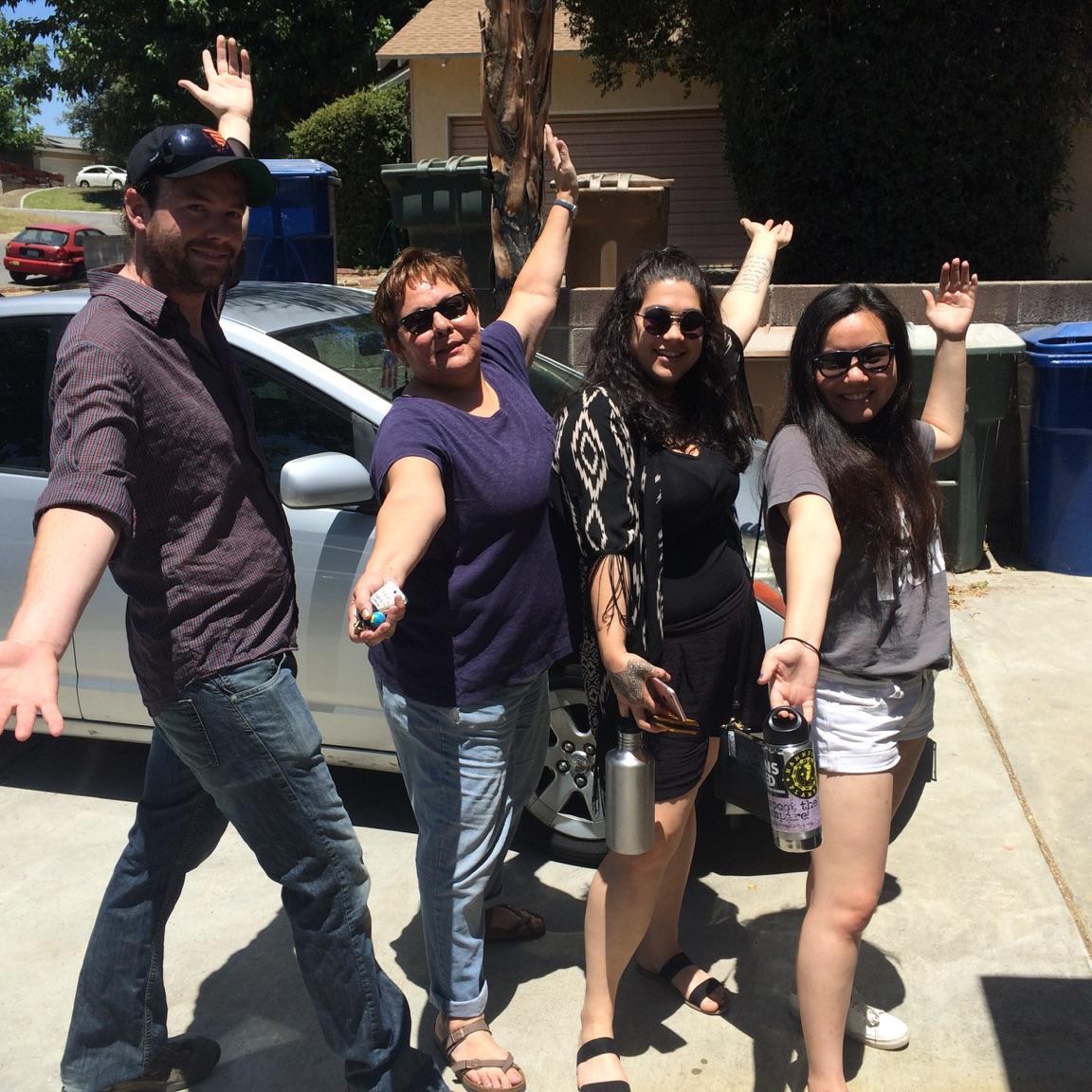 Alex Hartnett, Rosanna Esparza, Shanna Serrano and Zolboo Namkhaidorj in Kern County this weekend