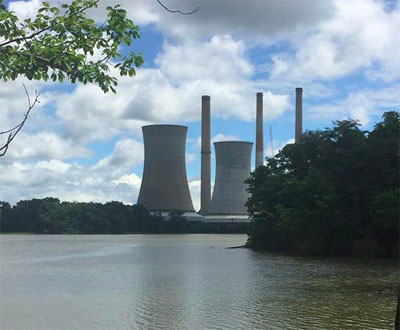 Image of Chalk Point Coal Plant from MD Sierra Club