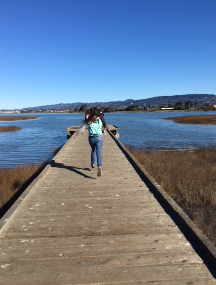 Madison Park student on field trip to MLK shoreline, photo credit Robin Morales