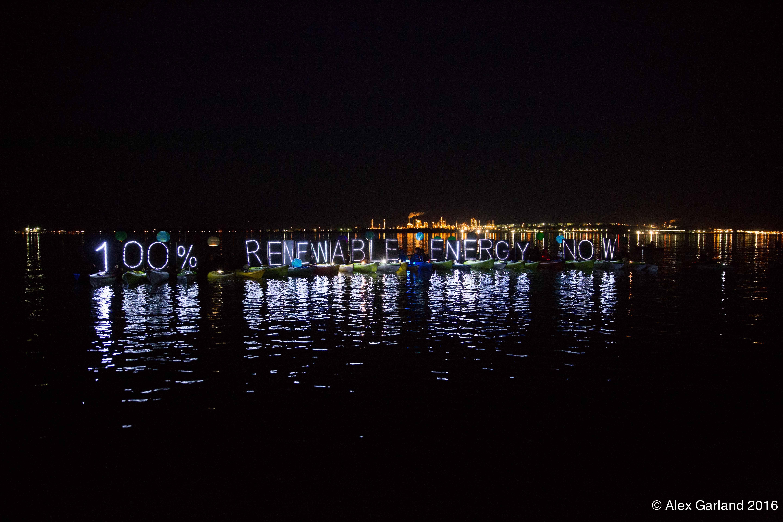 Renewable Energy Now! Photo credit: Alex Garland, 2016