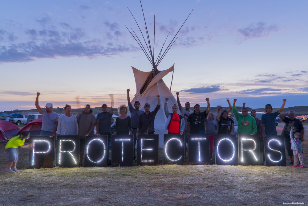 Sacred Stone Camp NoDAPL message. Photo Credit Joe Bursky - Creative Commons