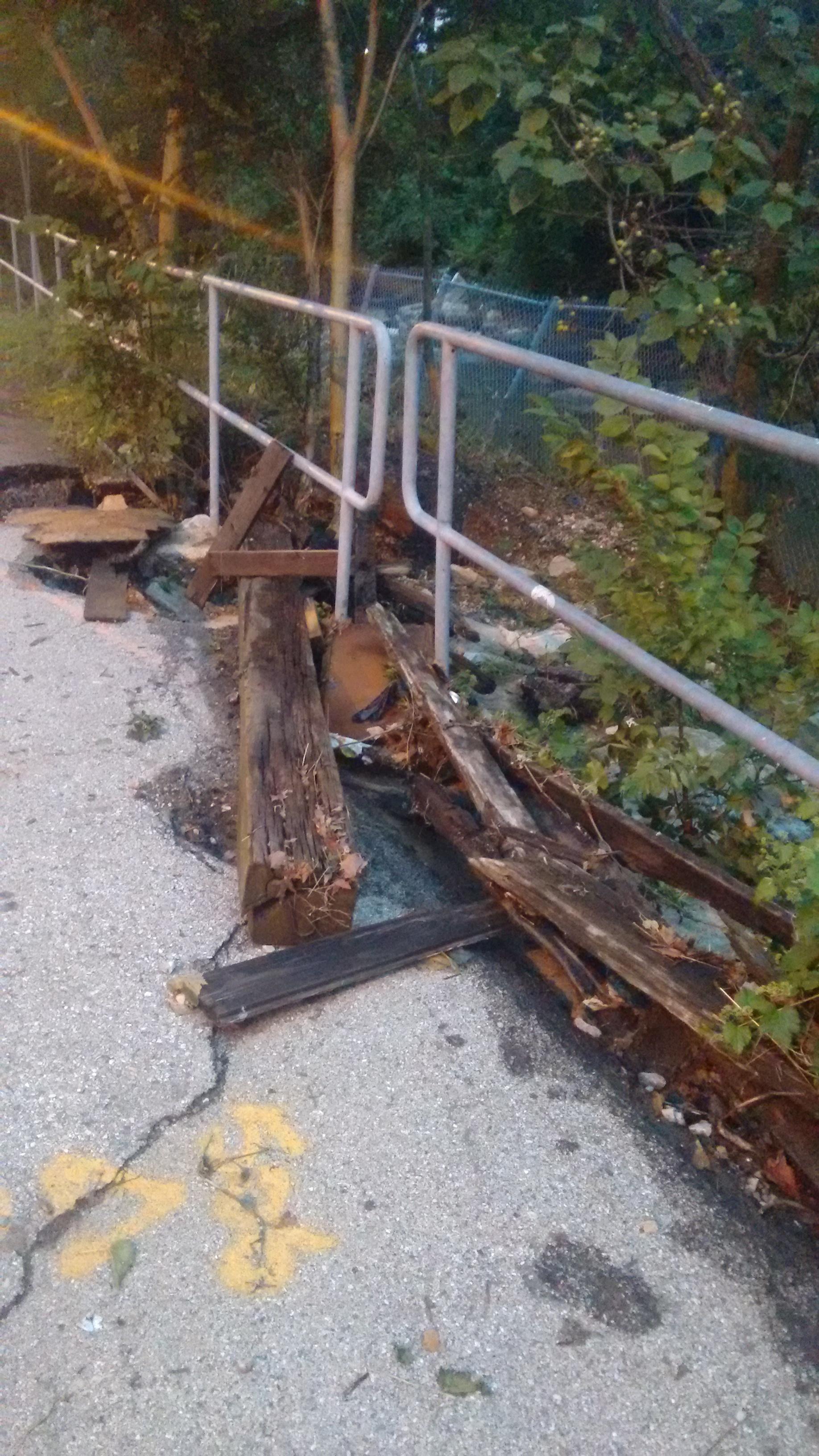 Debris in Maryland Photo by Jennifer Kunze