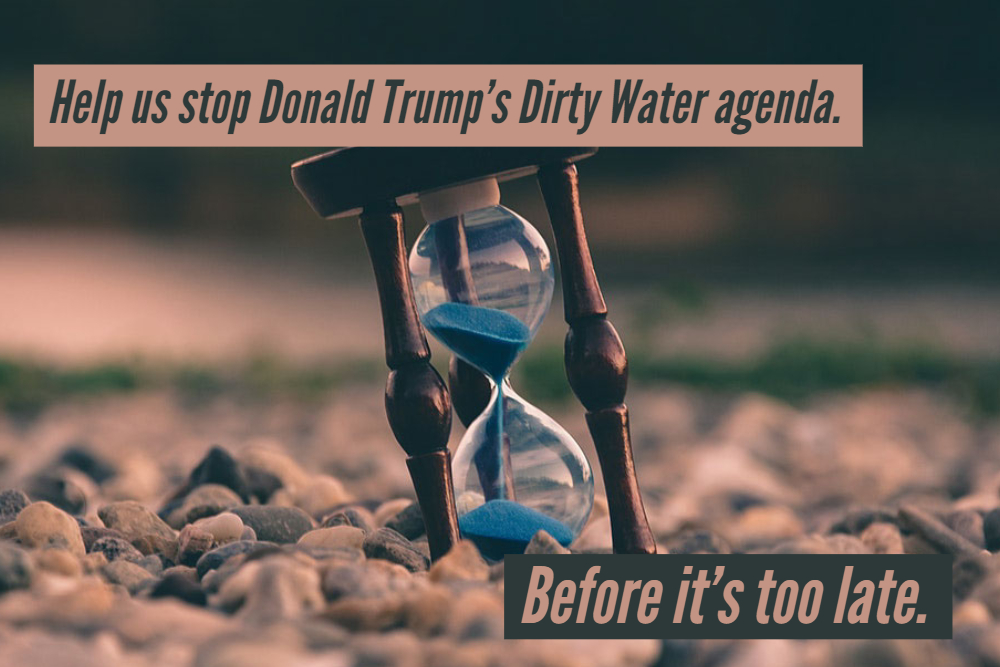 Help us stop Donald Trump's Dirty Water agenda.