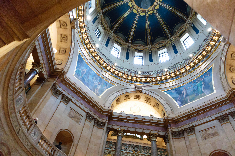 Minnesota Capitol Rotunda Inside Dome-evilfoo