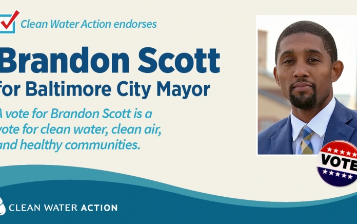 Clean Water Action endorses Brandon Scott for Mayor of Baltimore City
