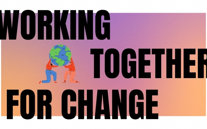Working Together for Change Created by Jenny Vickers in Canva