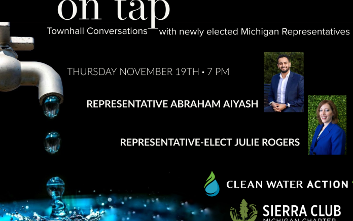 On Tap - Townhall conversations with Clean Water Action and Sierra Club Michigan featuring newly elected Michigan Representatives
