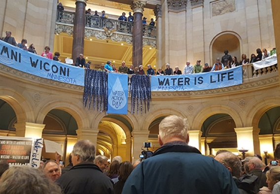 Minnesota capitol rotunda on Water Action Day