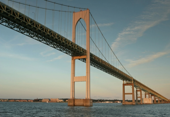 Newport Bridge from the water. Photo credit: Anthony Ricci / Shutterstock