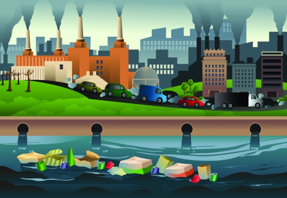 Illustration - pollution in the city. Image credit: Artisticco / Shutterstock