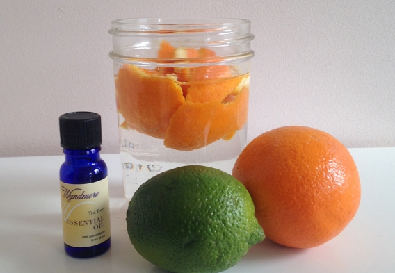 Make your own scented vinegar.