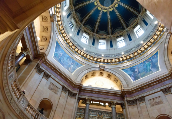 Minnesota Capitol Rotunda Inside Dome-evilfoo