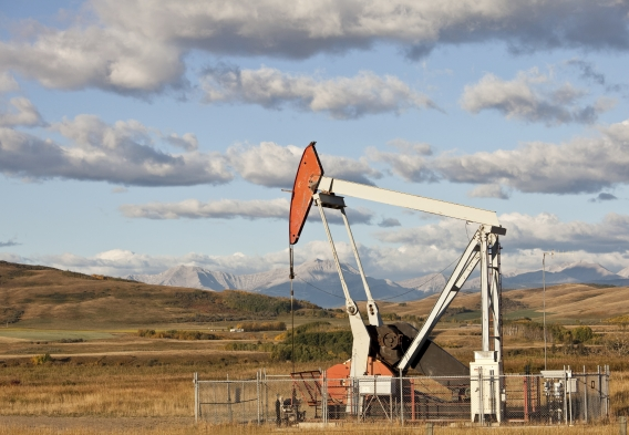 Drilling Rig with mountains