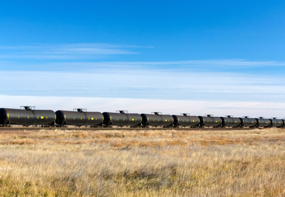 Oil train with DOT-111 train cars. Photo credit: Todd Klassy / Shutterstock