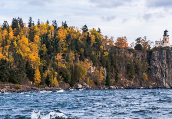 Minnesota Split Rock Lighthouse in the Fall